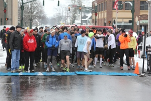 Start line of the World Race for Hope in Troy, Ohio - January 1, 2013